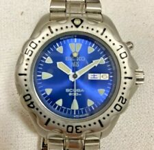 Authentic vintage Seiko AGS scuba automatic mens wristwatch stainless steel