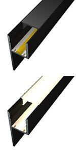 LED Fliesen Profil MOLA-UP 💡 BLACK  Abschluss Wand Decke Lichtvouten Strip Bad