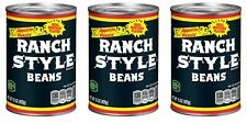 Ranch Style Beans Real Western Flavor Black Label Beans 3 Cans 15 oz each