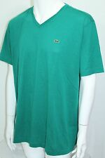 Lacoste Pima Cotton Jersey  V-Neck T-Shirt S-Sleeve NWT Neon Green XLarge/6