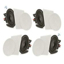 "4 Speakers 6.5"" Bluetooth Ceiling / Wall Speaker Kit, Flush Mount 2-Way Home"
