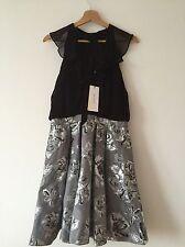Karen Millen Tie-Detail Chiffon & Metallic Dress - UK 6/EU 34 - RRP £190 - New