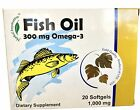 Fish Oil 300 mg Omega-3 Dietary Supplement 20 Softgels 1000 mg Product of  I.P.D