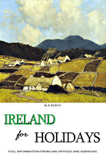 Ireland for Holidays - Kerry Paul Henry - Travel A3 Art Poster Print