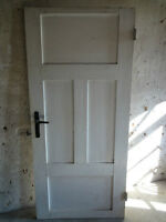 Alte Zimmertür - Tür - Türblatt - Weichholz - 4 Füllungen - um 1950