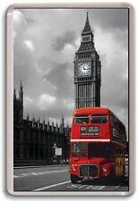 Aimant de Réfrigérateur - Rouge Bus Art - Grand Géant - Londres Royaume-Uni