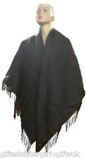 Large Brown Pashmina Style Wrap - Warm Winter Shrug - Shawl