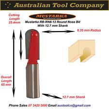 Router Bit Round Nose Tungsten Carbide Tip RN6-12
