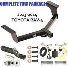 2013-2017 TOYOTA RAV4 RAV-4 TRAILER TOW HITCH + WIRING KIT + BALLMOUNT + BALL