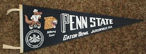 "Vintage 1967 Penn State - Gator Bowl 30"" Football Pennant - Very Good Condition"