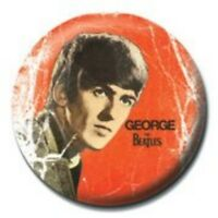 BEATLES george - red - BUTTON BADGE official merchandise - lennon & mccartney
