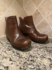 Dansko Scout Size 36 Women's Brown Leather Zip Up Ankle Boots