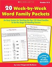 20 Week-by-Week Word Family Packets: An Easy System for Teaching the Top 120 Wor