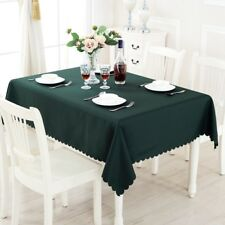 Plain Tablecloth Table Cover Cloth Banquet Wedding Cafes Rectangle Round Fabric