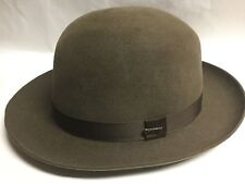 CHRISTYS' LONDON OPEN CROWN FOLDAWAY FUR FELT FEDORA BROWN 7 3/4 XL 62 LONDON UK