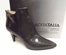 New AQUATALIA Size 10 SALA Textured Gray Waterproof Ankle Boots