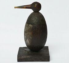Tabaktopf Holz handgeschnitzt Pinguin Kopf Pfeife Pipe Bécasse 1920/1930 H. 23cm