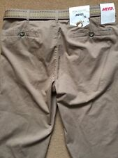 "MEYER Men's  Pima Cotton Tan/Beige Chinos Trousers with belt, W34"", L32"", £90"