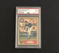 1987 Topps Traded Tiffany #70T Greg Maddux Rookie Card PSA 9 Mint Centered Cubs