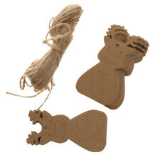 Kraft Paper Gift Tags Merry Christmas Label Blank +String Wedding Hanging LL