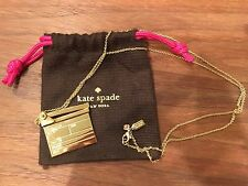 Worn Once! Kate Spade CINEMA CITY CLAPPER MOVIE CLAPBOARD PENDANT NECKLACE