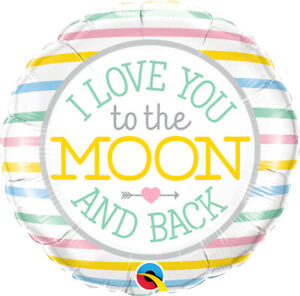 """I LOVE YOU BALLOON 18"""" I LOVE YOU TO THE MOON AND BACK VALENTINE'S DAY BALLOON"""