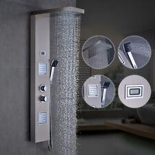 304 Edelstahl Duschpaneel mit. Thermostat Regendusche Badarmatur Dusche Duschset