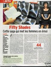 Coupure de presse 2013 (1 page) Cinquante Nuances de Grey E.L James