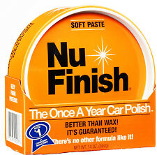 Nu Finish PASTE CAR POLISH NO RUBBING NO BUFFING Boats Airplanes Motorcycles HQ