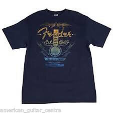 More details for fender folk acoustic navy t-shirt medium