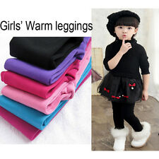 Black Girls Winter Warm Thick Fleece Leggings Lined Trousers Pants 7-9 Years Old
