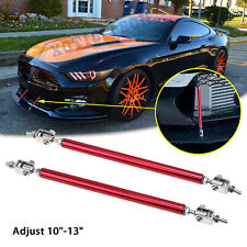 """Adjust 10""""-13"""" Red Sport Bumper Stabilizer Rod Lip Support Bars For Ford Mustang"""