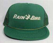 Vintage Rain Bird Sprinkler Irrigation Ag Advertising Snapback Trucker Hat Cap
