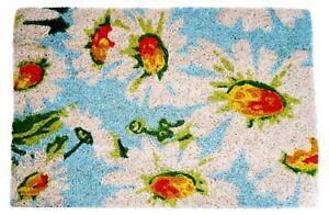 Daisy Flower Doormat Floral Coir Indoor Outdoor Door Mat