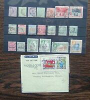 Jamaica 1889 - 1891 set 1938 5s Officials Fiscal + Cover Used