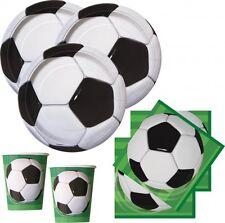 48 Teile Fußball Party Deko Set für 16 Personen - Geburtstag Motto Vereinsfeier