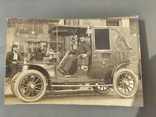 """CPA photo gros plan voiture Paris restaurant """"  à l'ancien Coches """" 1909"""