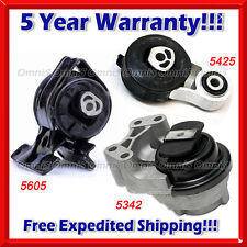 M199 Fits 2011-2014 Ford Edge 3.5L 3.7L w/ AUTO, Motor & Trans Mount Set 3pc