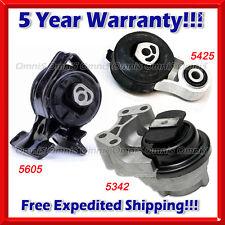 M199 Fits 2011-2014 Ford Edge 3.5L 3.7L w/ AUTO, Motor & Trans Mount Set 3pc