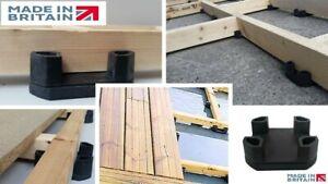 Pack of 20 Decking joist support adjustable levelling acoustic cradle pedestal.