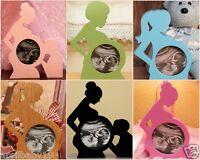 First Photo Ultrasound Sonogram Oak Wood Baby Picture FRAME Silhouette Keepsake