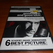 Good Night, And Good Luck (DVD, Widescreen 2006) Robert Downey Jr NEW