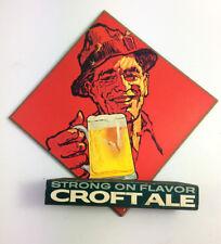 Vintage Croft Ale beer sign Fisherman