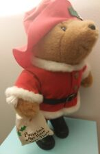 Vintage Eden Santa Paddington Bear Stuffed Animal 16""