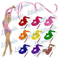 UK Gym Dance Ribbon Rhythmic Art Gymnastic Streamer Baton Twirling Rod 4M