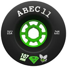 ABEC 11 Superfly Longboard Wheels for Cruisers and Electrics, 107mm/74a NEW