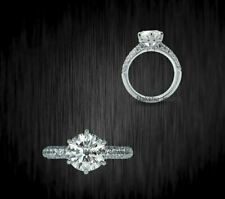3Ct White Round Cut Real Moissanite Bridal Engagement Ring 925 Sterling Silver