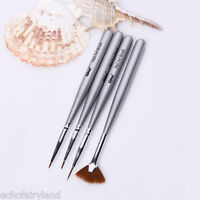 4Pcs/set Nail Art Drawing Shade Gardient Brush Set Painting Liner Pen Manicure