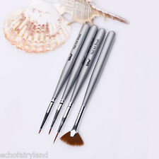 4Pcs/set Nail Art Drawing Shade Gardient Brush Painting Liner Pen Manicure Tool