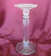 19C ANTIQUE CLEAR CRYSTAL GLASS CANDLESTICK HOLDER